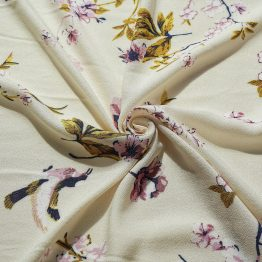 40s rayon c Printrepeed with flower ready goods