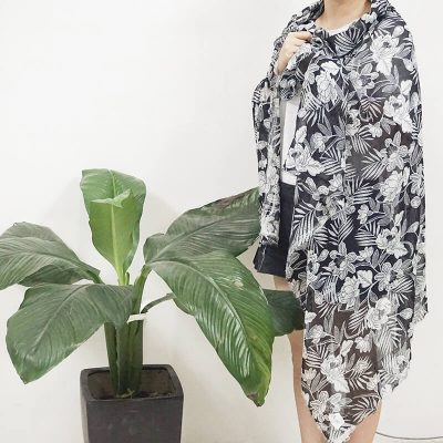 Lurex Chiffon printed ready goods
