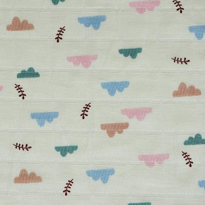 Printed cotton gauze ready goods with cloud pattern