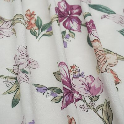 30*68 rayon voile Printed with flower ready goods
