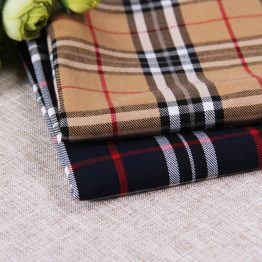 Yarn dyed TR Twill Plaid ready goods