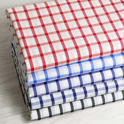 Yarn Dyed Cotton Nylon Spandex Plaid-S670-10