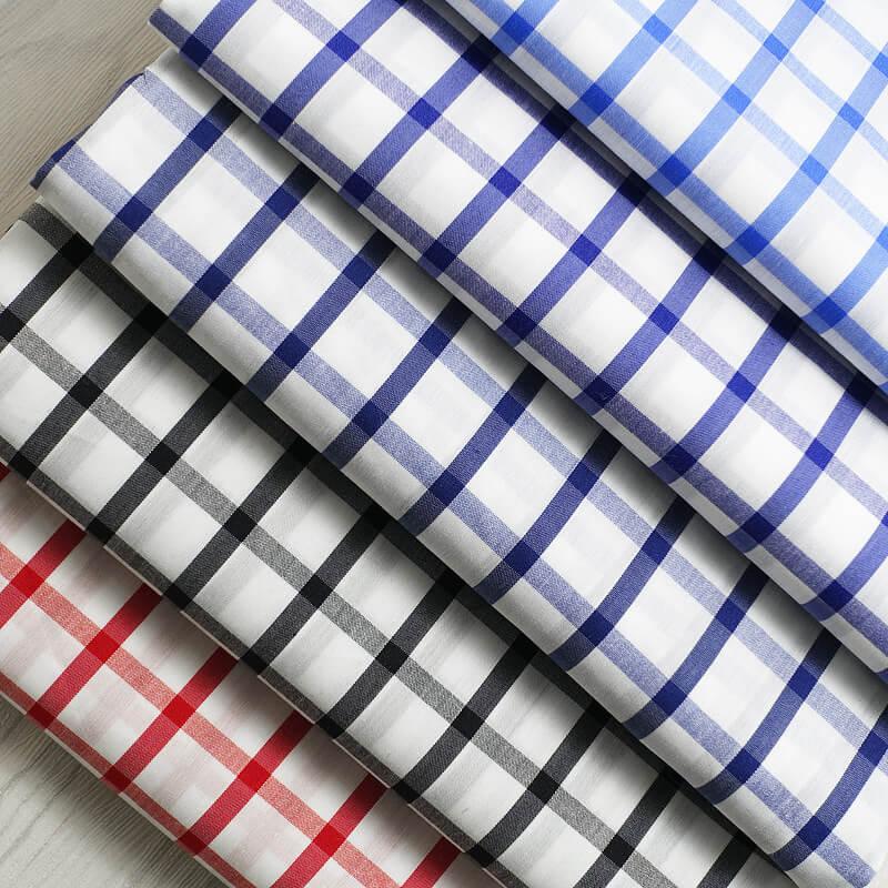 Yarn Dyed Cotton Nylon Spandex Plaid-S670-10