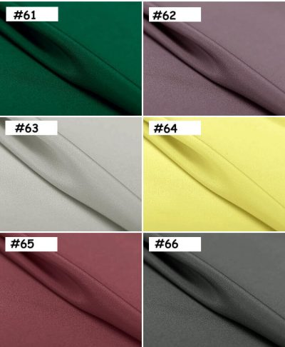 12mm silk crepe color map