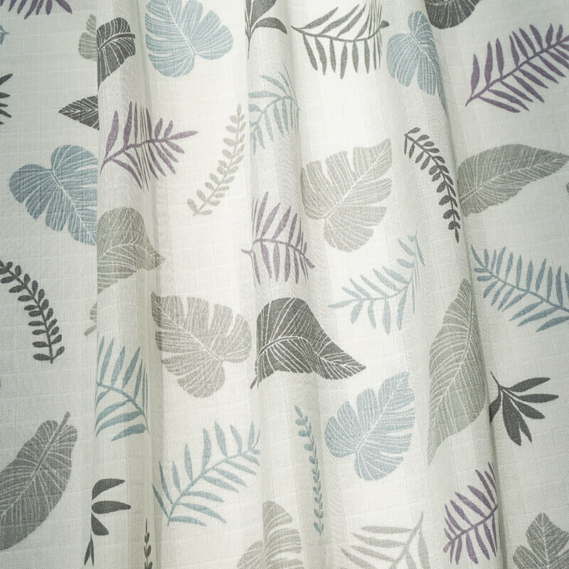 Double Cotton Guauze-Leaves-3